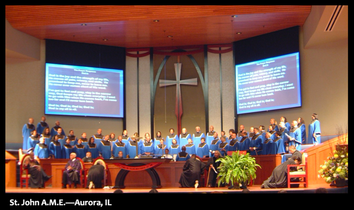 House of worship presentation screen - Sound Planning Associates